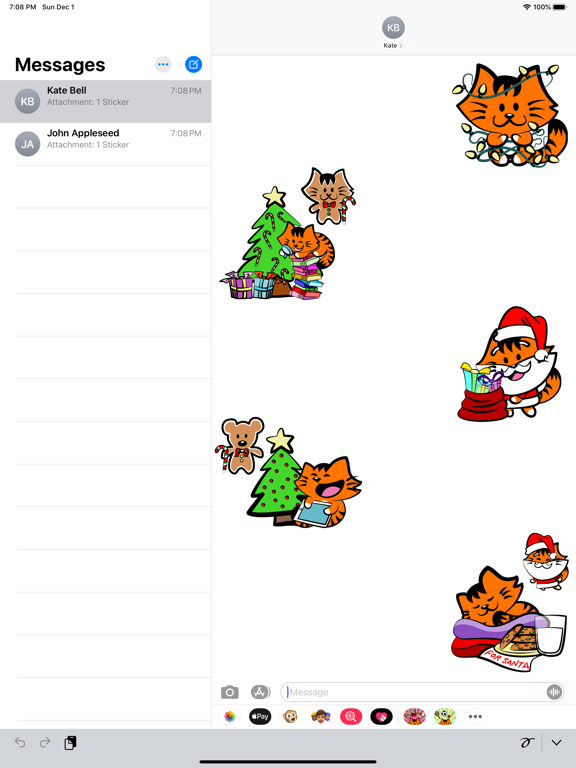 Kikimoji Christmas Love screenshot 9