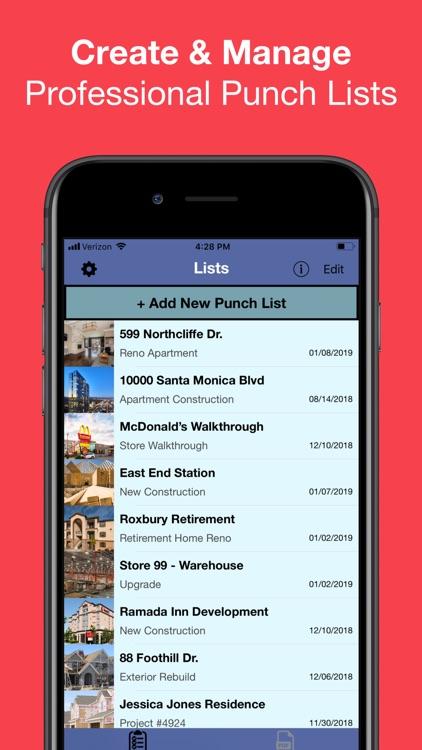 Punch List & Site Audit Report screenshot-0