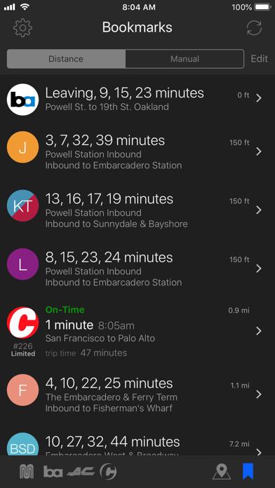 Routesy Free Bay Area San Francisco Muni, BART, Caltrain & AC Transit screenshot
