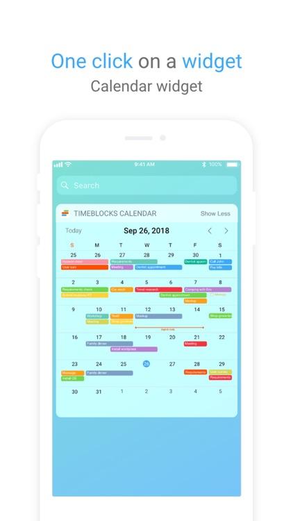 TimeBlocks - Mobile Planner screenshot-5