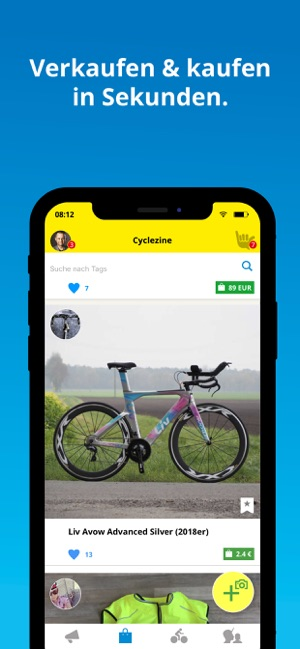 Cyclique Fahrrad Community Screenshot