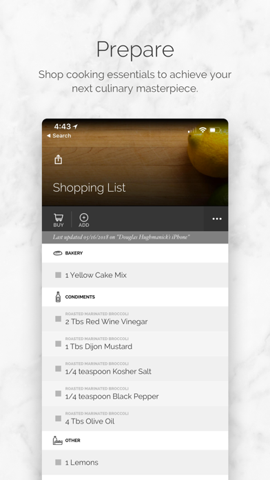 Yummly Recipes + Shopping List screenshot four