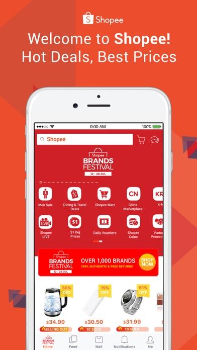 Screenshot for Shopee Brands Festival in Singapore App Store
