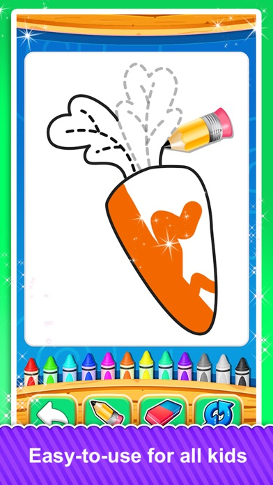 Fruits and Vegetable Coloring screenshot 5