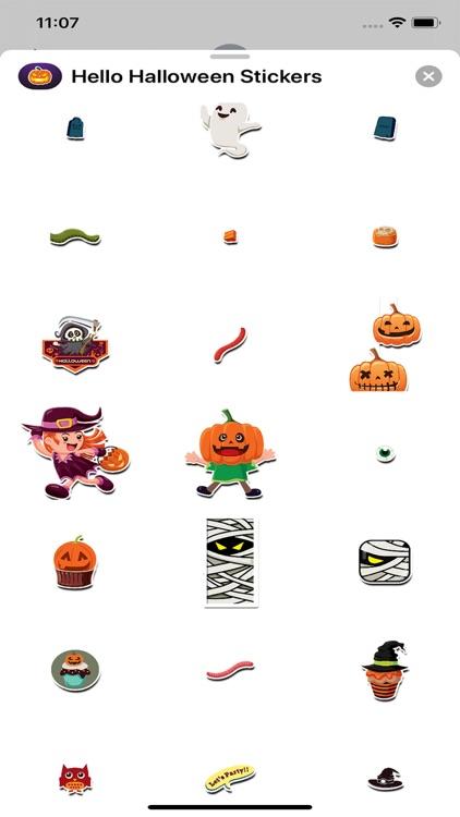 Hello Halloween Stickers screenshot-5