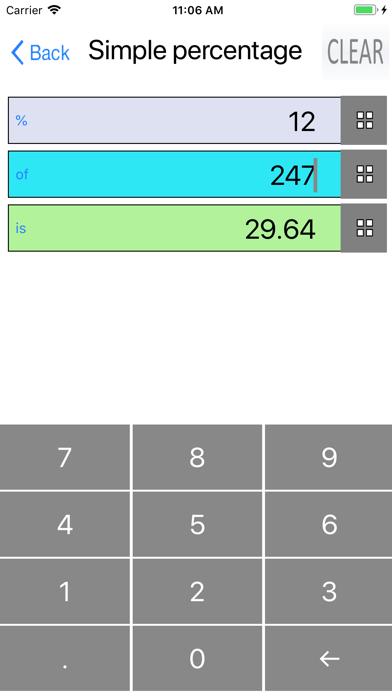 Percent, Percentage Calculator screenshot 2