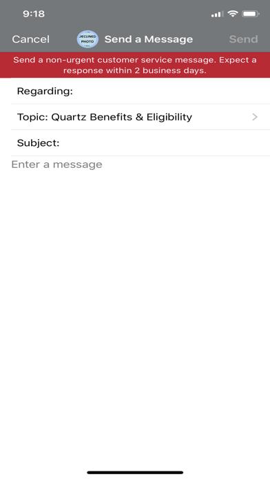 Screenshot of Quartz MyChart App
