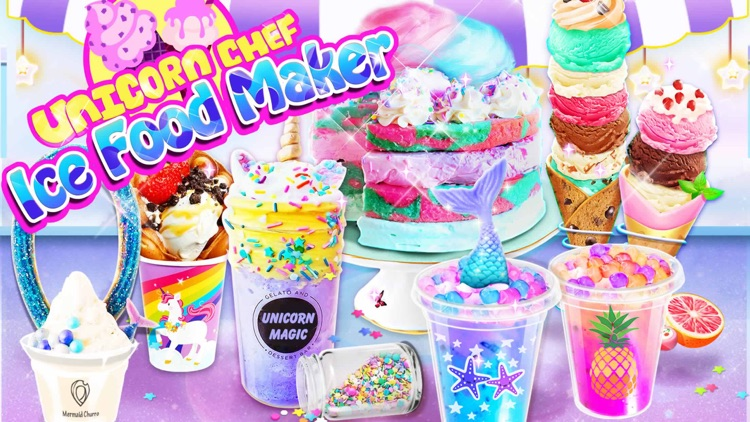 Unicorn Chef: Ice Foods Games screenshot-0