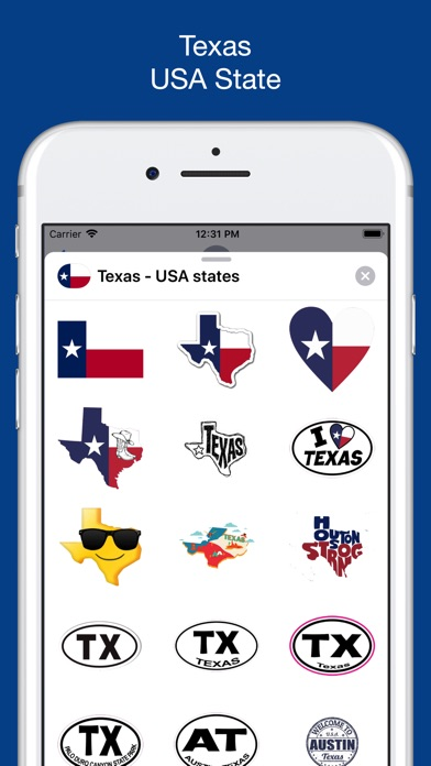 Texas emojis - USA stickers screenshot 1