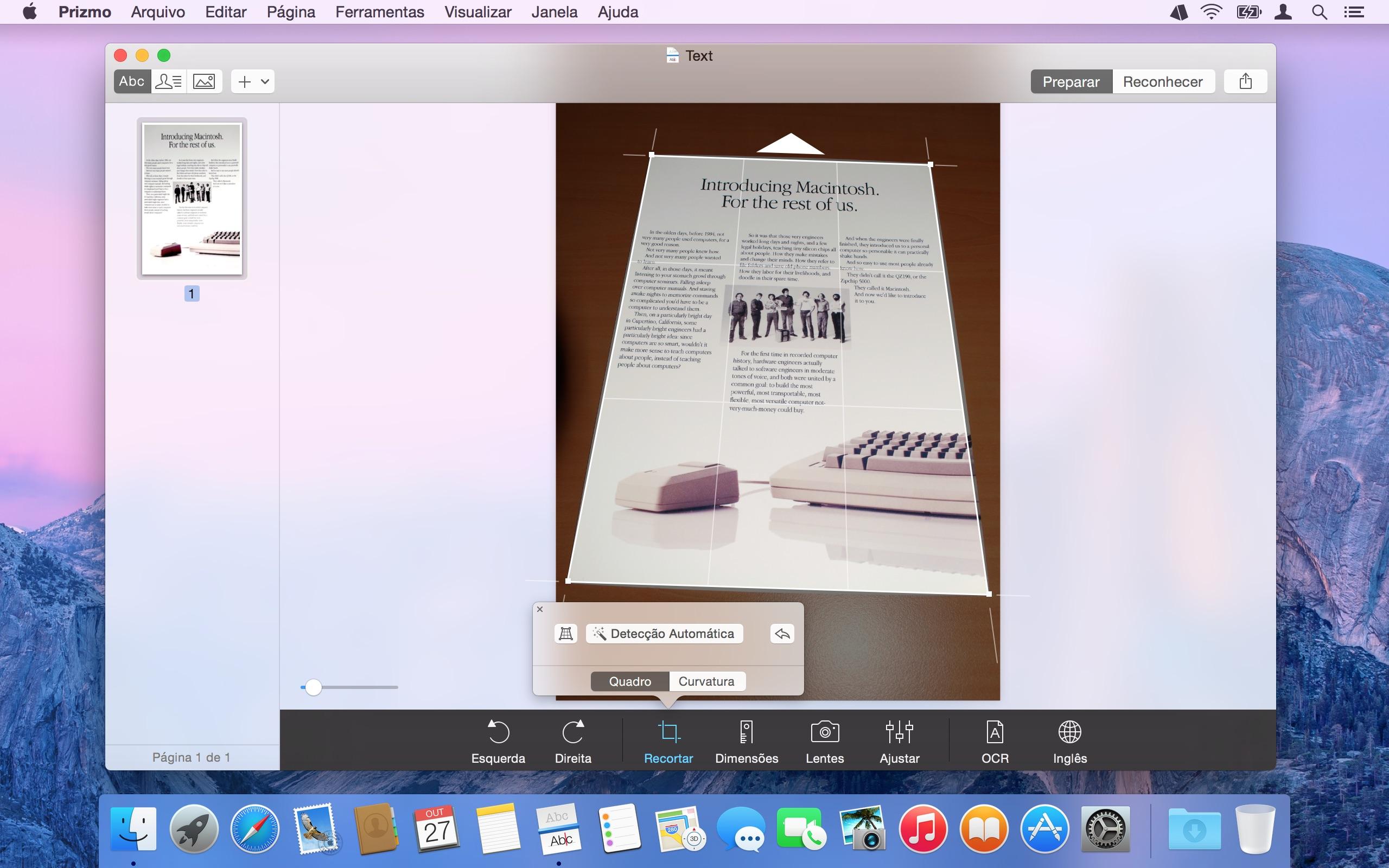 Screenshot do app Prizmo 4 › Pro Scanning + OCR