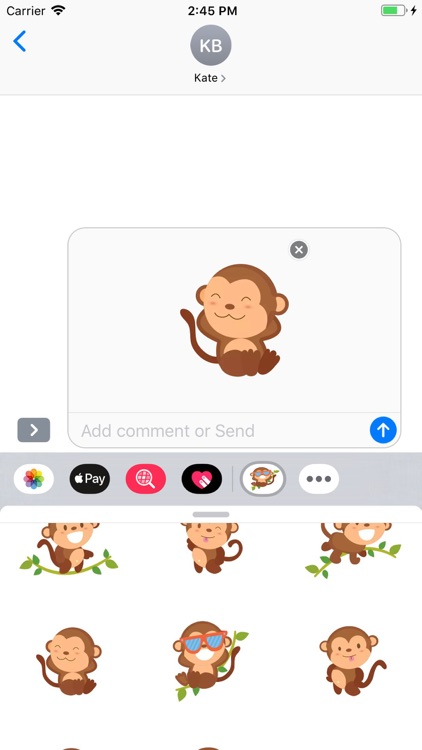 Cute Monkey Stickers Pack screenshot-6