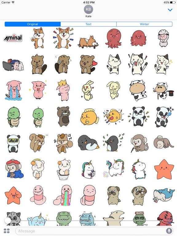 Screenshot #6 pour Aminal Stickers