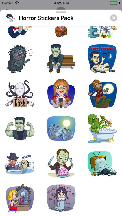 Horror Stickers Pack