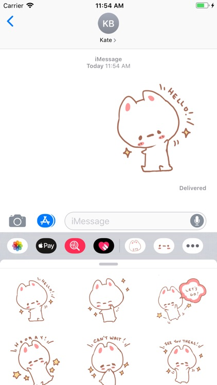 Aisu the Rabbit Stickers screenshot-2