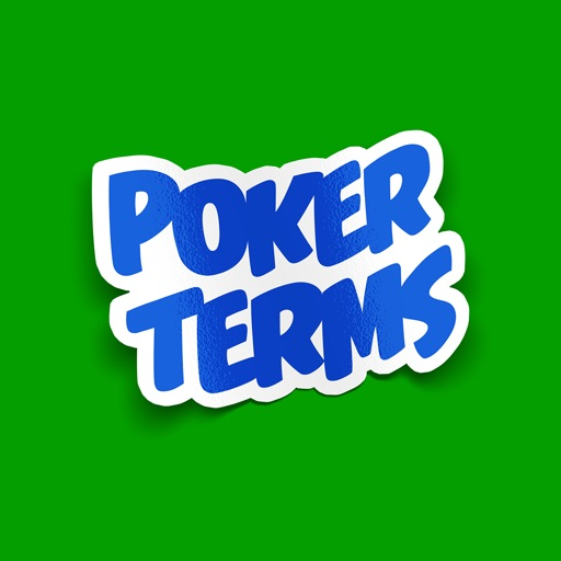 Poker Terms Sticker Pack