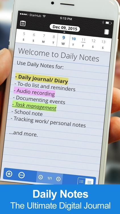 Daily Notes + Tasks screenshot-0