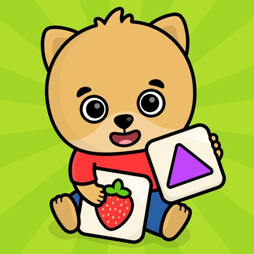 幼児向けベビーフラッシュカード・動物くだもの絵合わせパズル