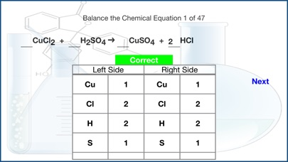 Balance The Chemical Equation app image