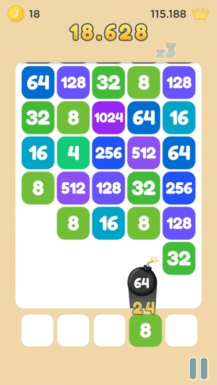 Strike the Tile - Merge 2048 screenshot-3