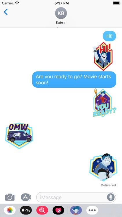 Pixar Stickers: Onward screenshot-4