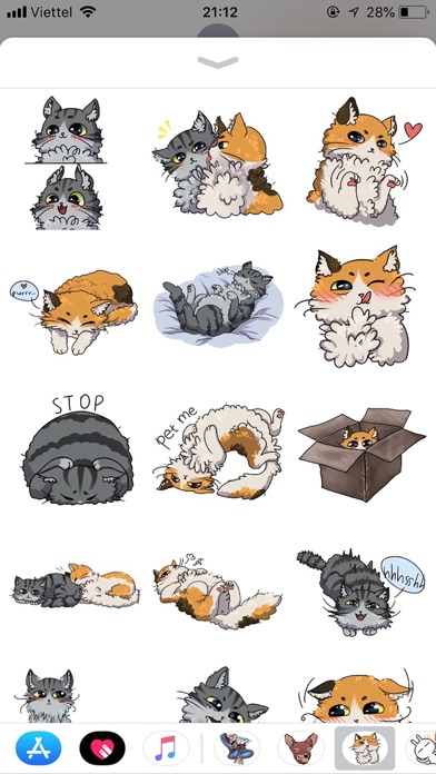 Cat Bigmoji Funny Stickers screenshot 1