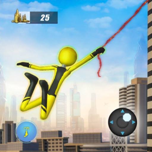 Stickman Rope Hero Fight
