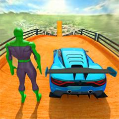 Superhero Racing Car Stunts