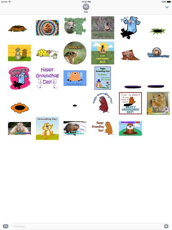 Animated Groundhog Day Sticker screenshot 3