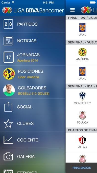 Screenshot for Liga Bancomer MX App Oficial in United States App Store