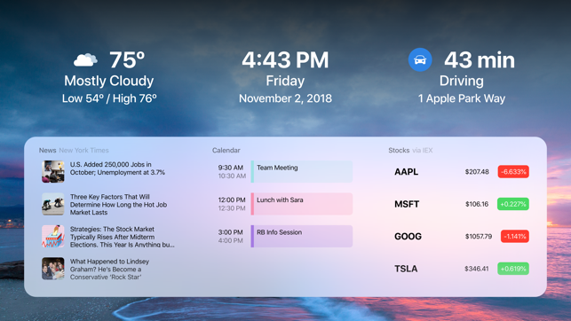 ‎DayView - Personal Dashboard Screenshot