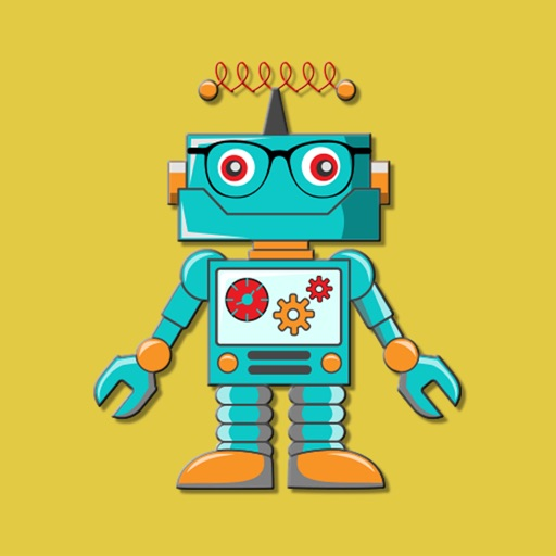 Hipster Big Robots Stickers