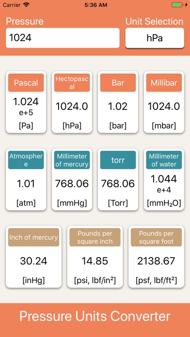Screenshot for Pressure Units Converter in Israel App Store