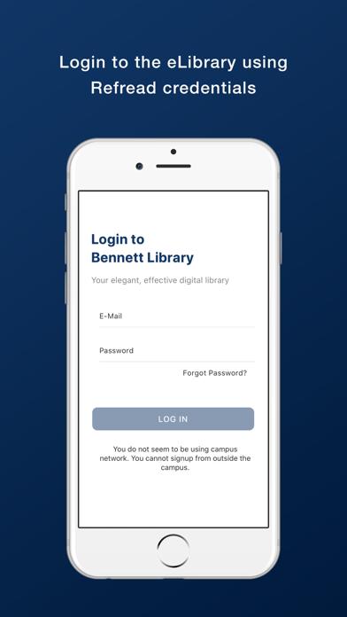Bennett University Library screenshot 1