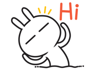 Rabbit Funny Emoji Stickers