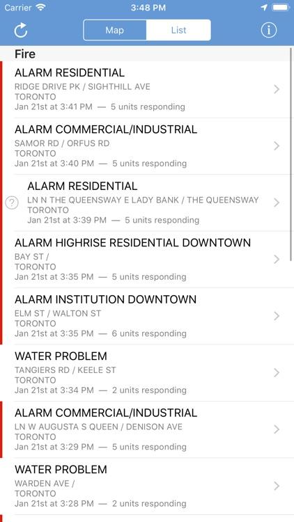Toronto Incidents