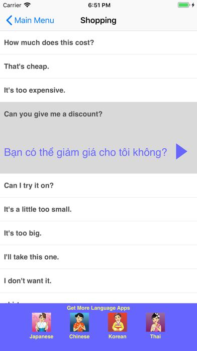 Speak Vietnamese Phrasebookのおすすめ画像3