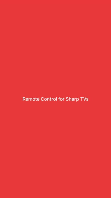Remote Control for Sharp TVs