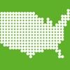 あそんでまなべる アメリカ地図パズル