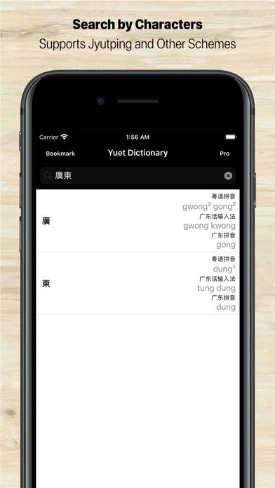 Cantonese/Yuet Dictionary Pro screenshot one