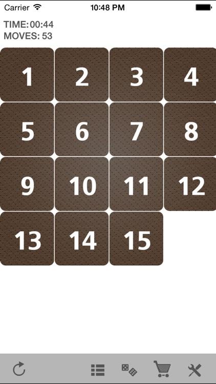 Fifteen sliding tiles puzzle screenshot-4