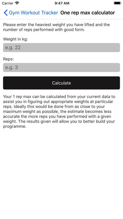Gym Workout Tracker screenshot-7