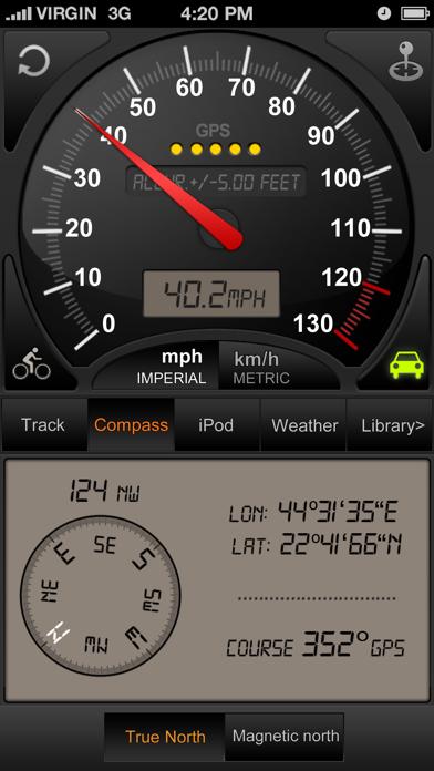 Speedometer GPS+ (Car speedometer, Bike cyclometer) Screenshot 2