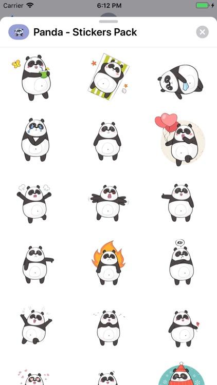 Panda - Stickers Pack screenshot-6