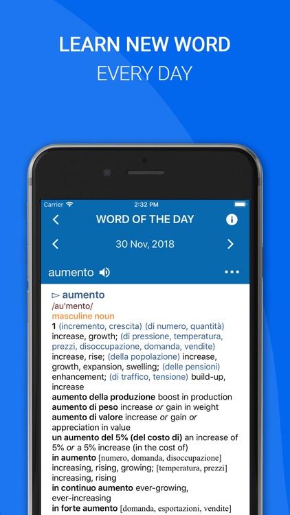 Oxford Italian Dictionary 2018 screenshot-4