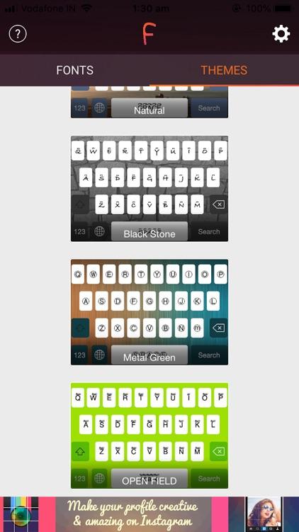 Cool Fonts & Keyboard Themes screenshot-5