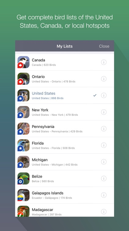 EyeLoveBirds: Bird Checklists screenshot-3
