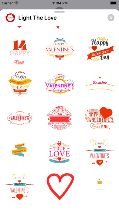 Screenshot for Vals Day Sticker Pack in United States App Store