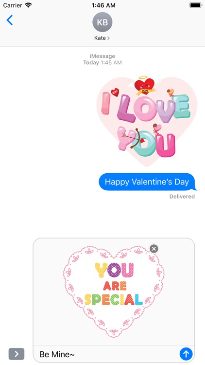 Cute Love Typography Lettering screenshot-4