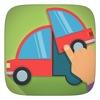車や飛行機を使って、聞いて学ぶパズルトラックと車 - iPhoneアプリ