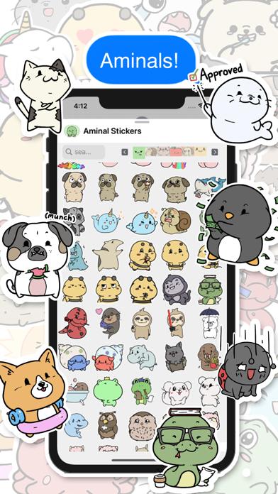 Screenshot #2 pour Aminal Stickers